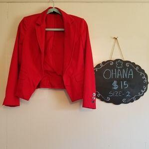 White Black size 2 red jacket